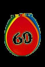 BALONNEN 60 JAAR 8 STUKS 30CM