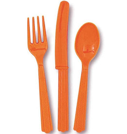 bestek oranje 3-delig 18 stuks
