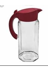 Alpina Karaf glas 1,5L met kunststof deksel ROOD