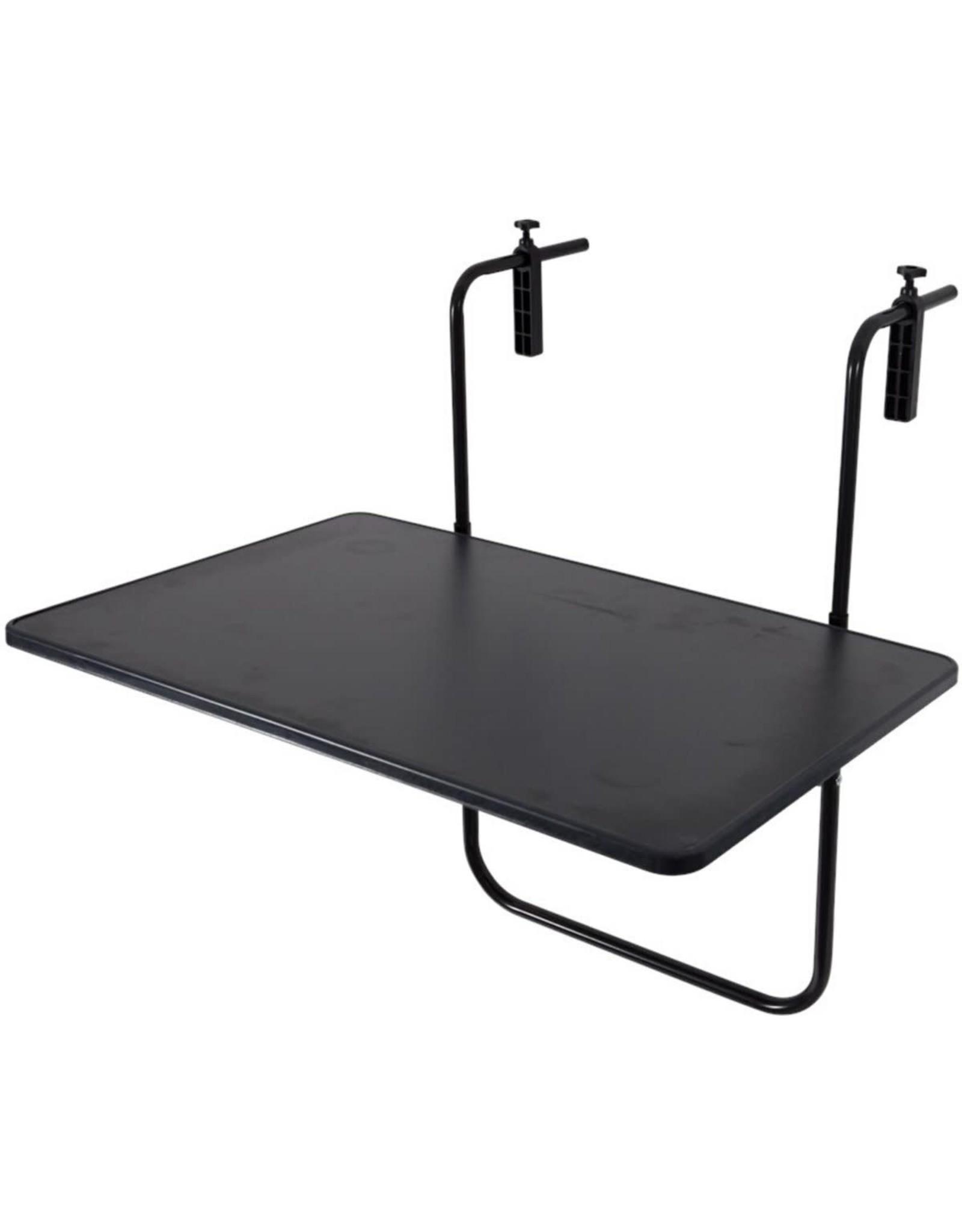 Balkontafel 60 x 70 zwart
