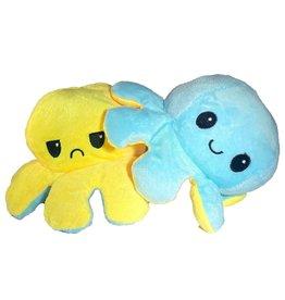 Octopus mood lichtblauw/geel