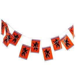 Oranje vlaggenlijn 8meter 16 vlaggen