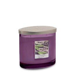 HEART & HOME Heart & Home Ellips 2 Lont - Lavender & Sage