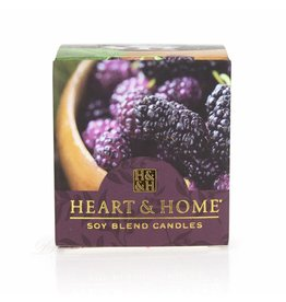 HEART & HOME Heart & Home Votive - Simply Mulberry