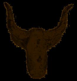 Lesli Living Houten beeld stier 38x19x38 cm muurdecoratie