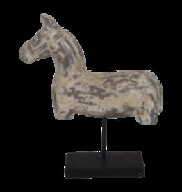 Lesli Living Houten beeld paard 38x10x41 cm