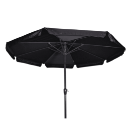 Lesli Living Parasol Libra Diameter 3m  knikbaar Zwart