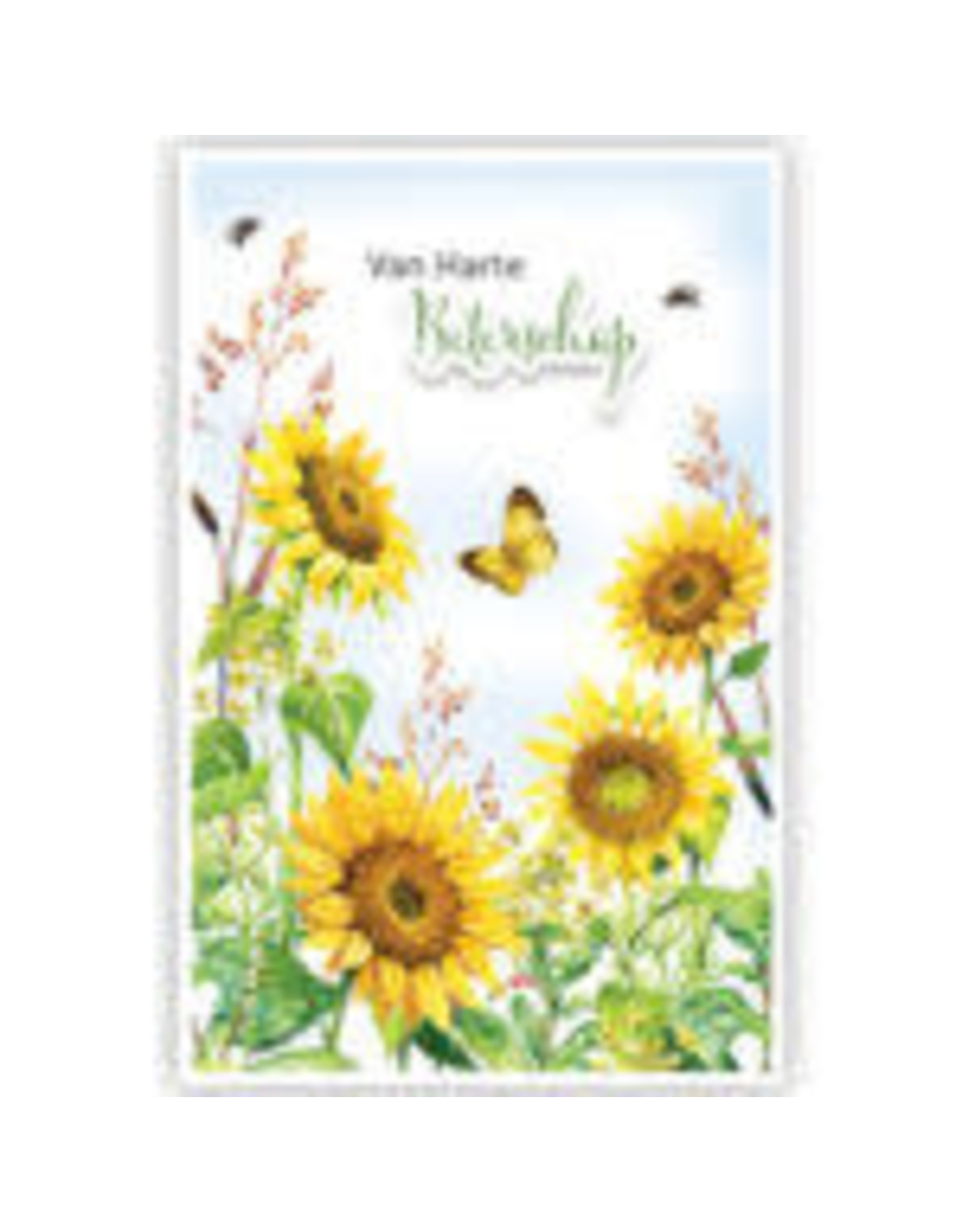 PRIMEURCARDS Beterschap zonnebloemen- PrimeurCards- met envolop