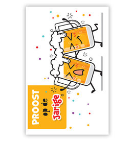 PRIMEURCARDS Proost op de jarige - PrimeurCards- met envelop