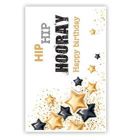 PRIMEURCARDS Hip hip hooray- PrimeurCards- met envelop