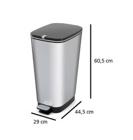 KIS Kis Chic Bin Pedaalemmer 50 liter Zilver Maat L