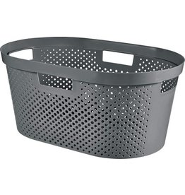 CURVER Curver Infinity wasmand dots 40L - 100% recycled donkergrijs