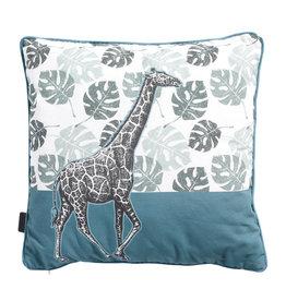 MADISON GARDEN Sierkussen 50x50cm  Madison Giraffe Sea blue