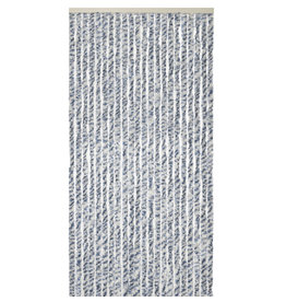 WICOTEX Vliegengordijn-kattenstaart- 100x240 cm blauw/grijs/wit mix in doos