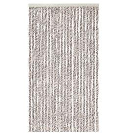 WICOTEX Vliegengordijn-kattenstaart- 100x240 cm grijs/bruin/wit mix in doos