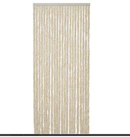 WICOTEX Vliegengordijn-kattenstaart- 100x240cm beige/wit mix in doos