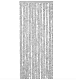 WICOTEX Vliegengordijn-kattenstaart- 120x240 cm grijs/wit mix in doos