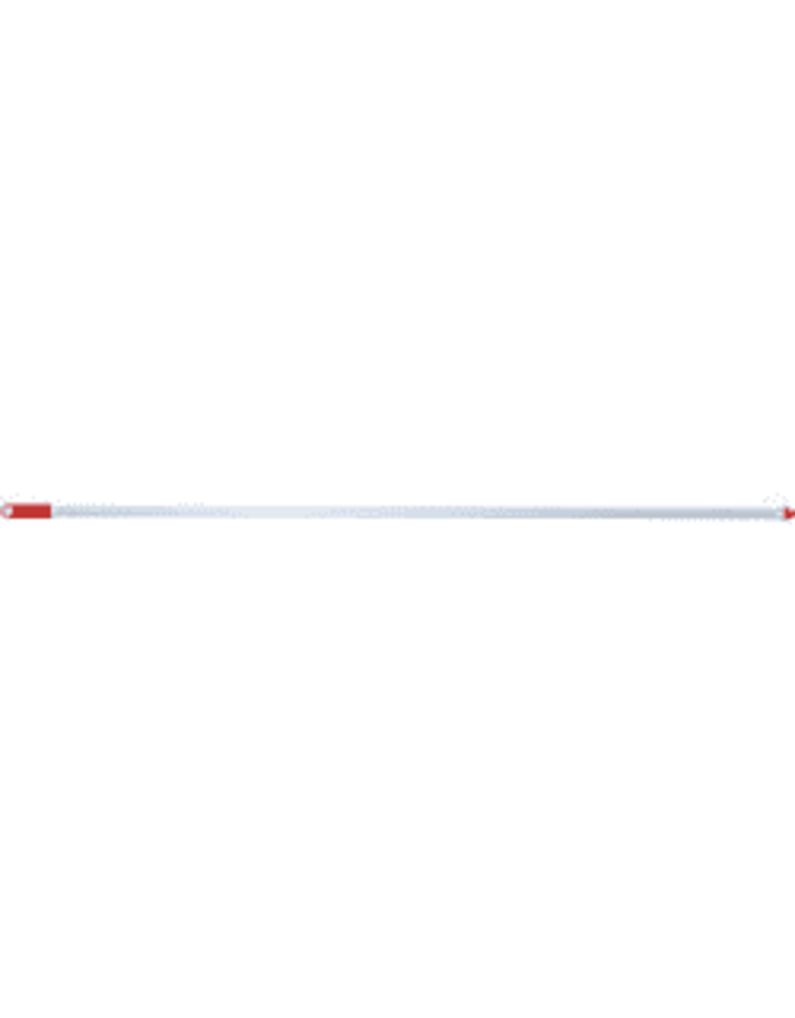 Bezemsteel Metaal Wit 140x2,6cm