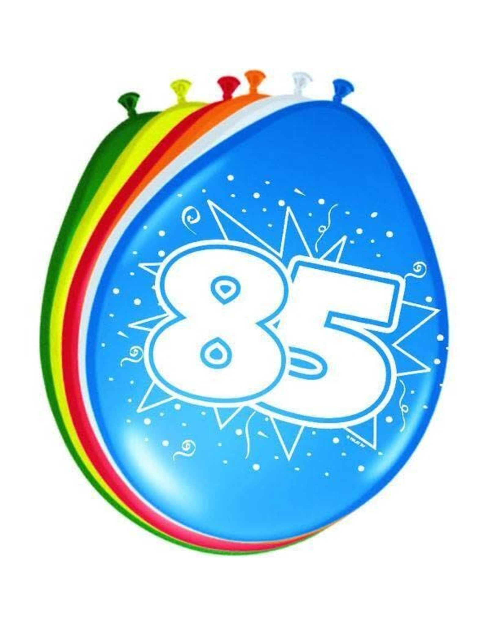 FOLAT Ballonnen 85 jaar 8 stuks