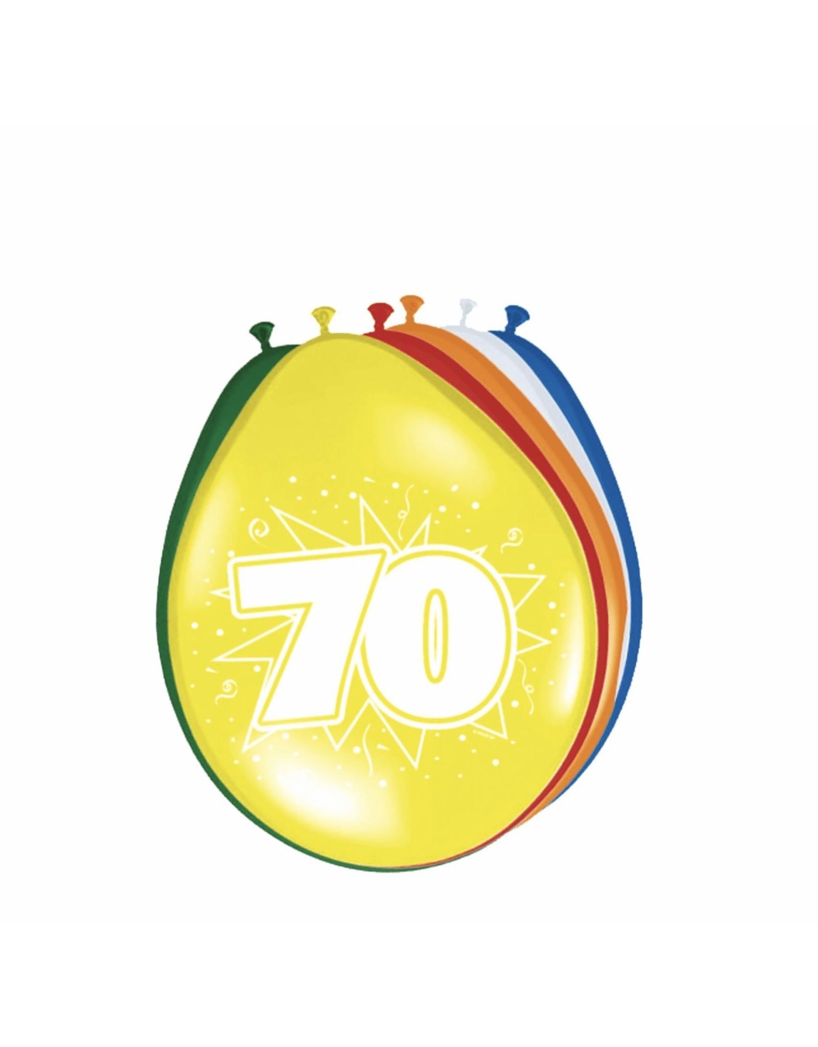 FOLAT Ballonnen 70 jaar 8 stuks
