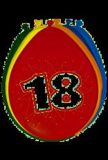 FOLAT BALONNEN 18 JAAR 8 STUKS 30CM