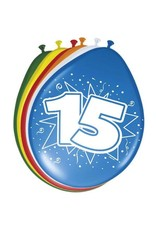 15 jaar ballonnen 8 stuks
