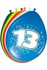 FOLAT Ballonnen 13 Jaar 30cm 8 stuks
