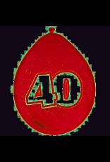 FOLAT 40 Jaar Ballonnen rood 8 stuks 30cm
