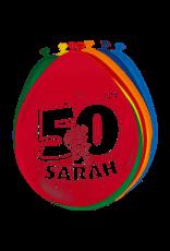 50 jaar Sarah ballonnen, 8 stuks