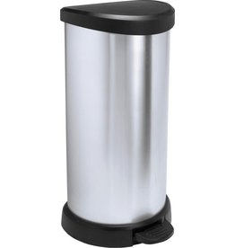 CURVER Curver Decobin - Pedaalemmer - 40l - Zilver Metallic