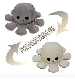 Mood octopus  XXL 30 cm Grijs- of f white