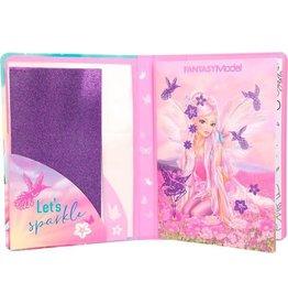 TOPMODEL Fantasy Model Kleurboek Glitter-fun Meisjes 19,5 Cm Papier