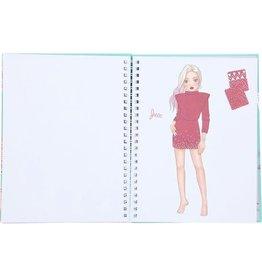 TOPMODEL TOPMode Fashion Doodle Book met gelpennen