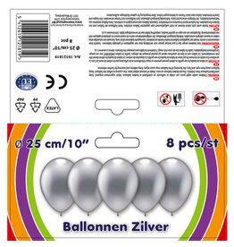 Ballon zilver 8st