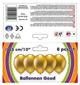 Ballon goud 8st.