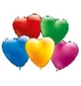 Ballon hart 20st kleuren ass.