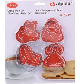 ALPINA Alpina Koekvormen 7 Cm Rvs Grijs 4 Stuks