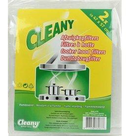 CLEANY Cleany universeel afzuigkapfilter - dampkap afzuigkap filter 2x 47 x 57 cm