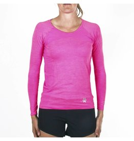 Osaka Woman Tech Knit Long Sleeve Tee - Pink/Melange