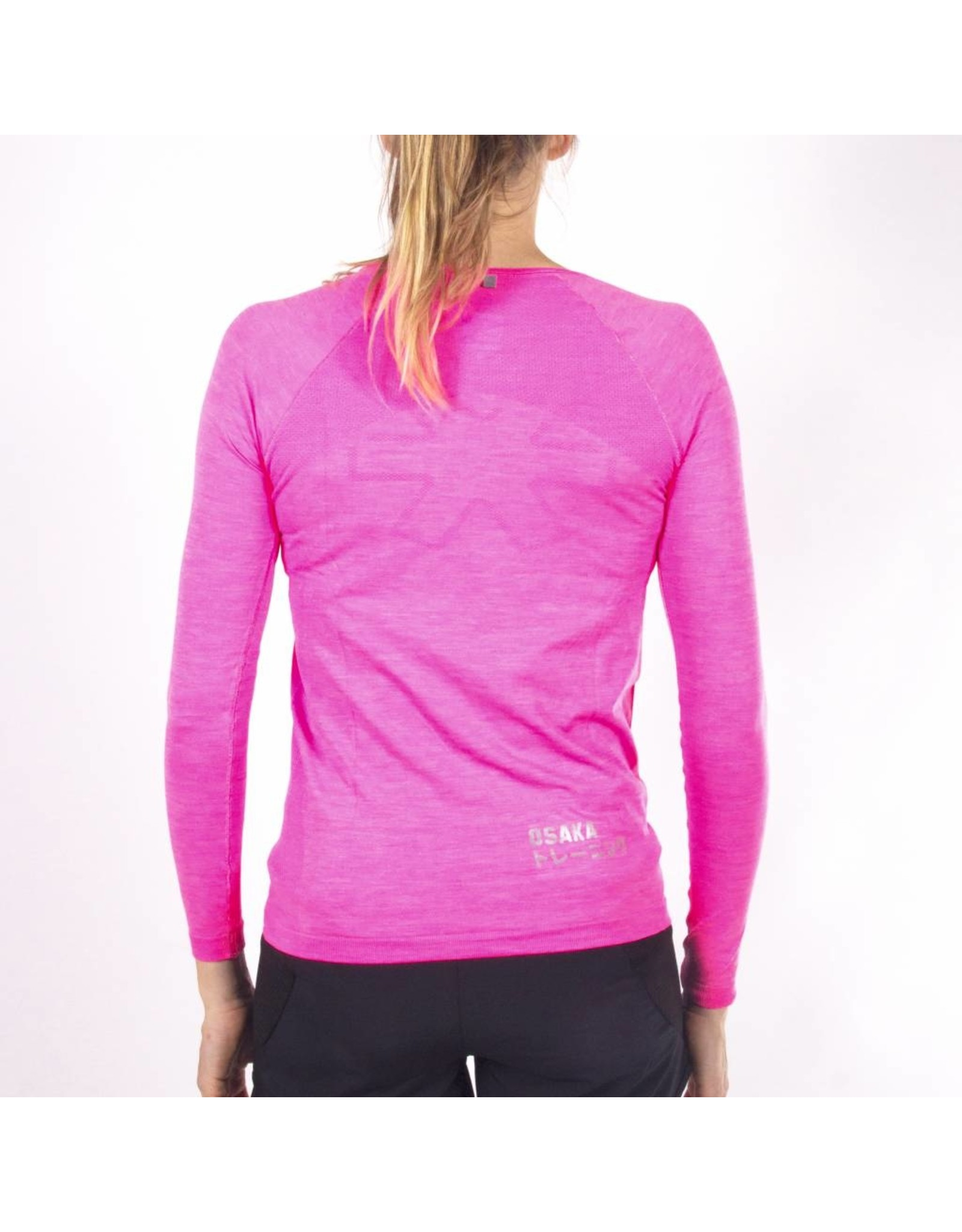 Osaka Woman Tech Knit Long Sleeve Tee - Pink/Melange
