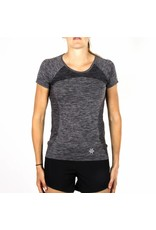 Osaka WomanTech Knit Short Sleeve Tee - Black/Melange