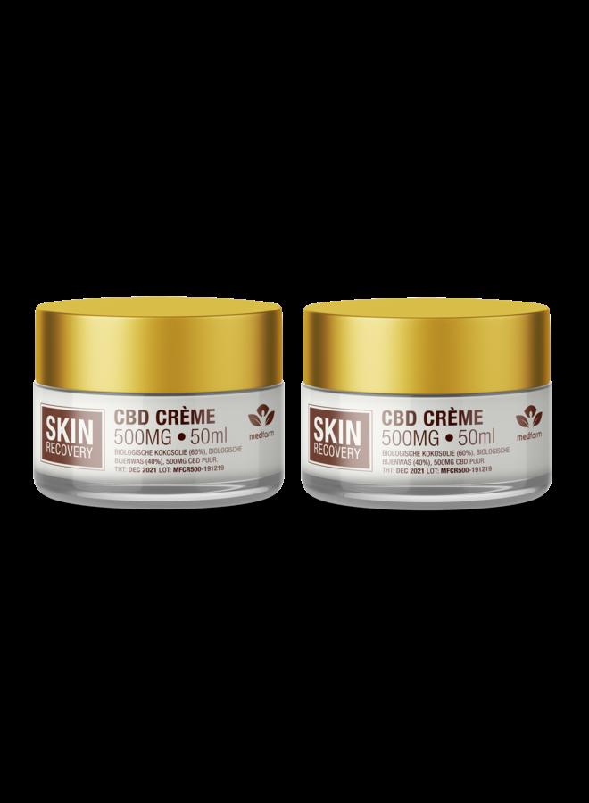 CBD Crème - Huidverzorging - 50 ml - 500 mg - 2 stuks