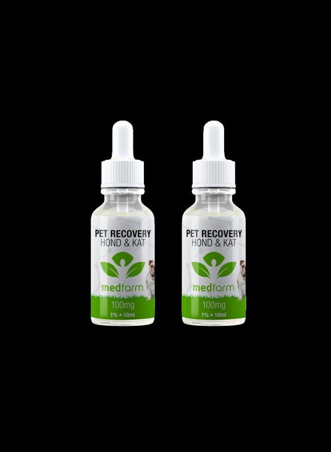 CBD Olie - 1% - Hond & Kat - 10 ml - 100 mg - 2 stuks