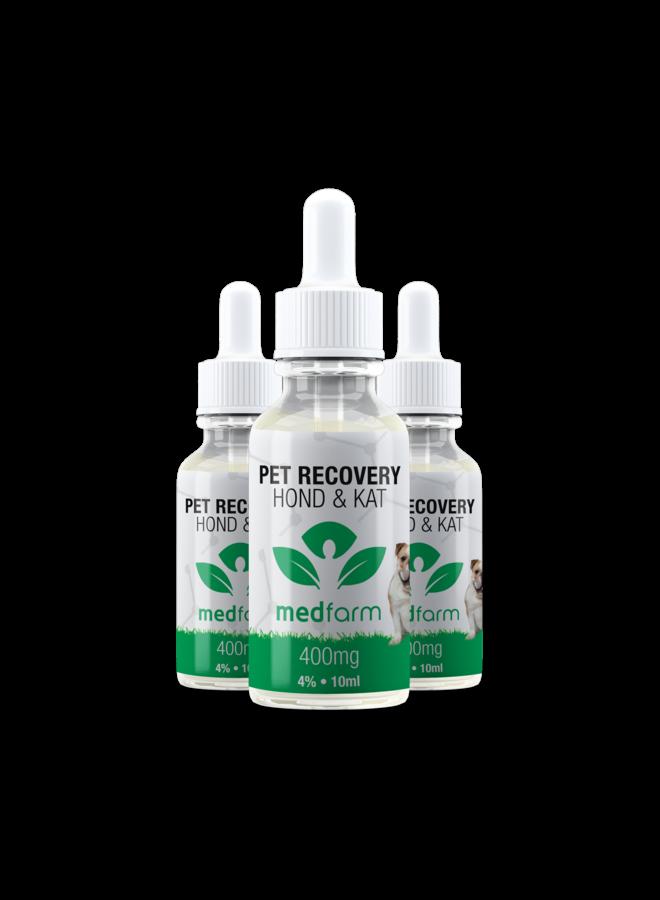 CBD Olie - 4% - Hond & Kat - 10 ml - 400 mg - 3 stuks