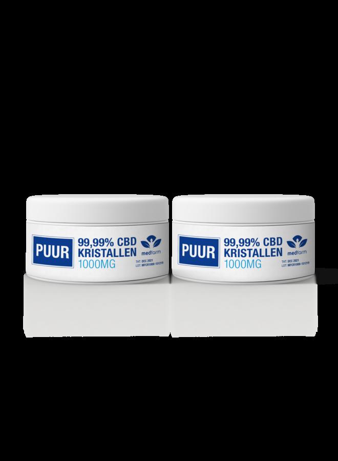 CBD Kristallen - 99.99% - Cannabidiol Poeder - 1000 mg - 2 stuks