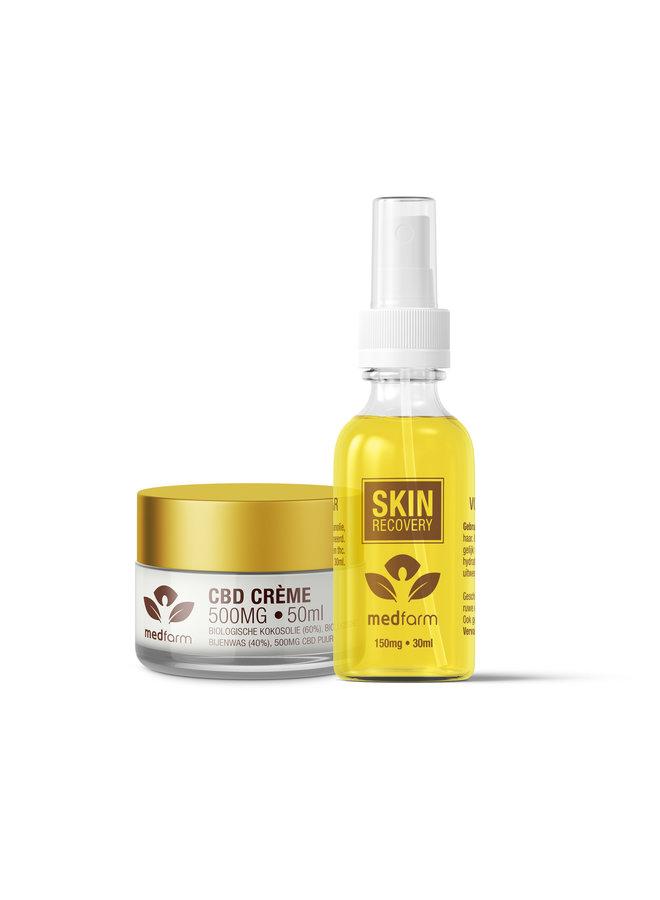 Argan CBD Olie 30 ml - 300 mg & CBD Crème 50 ml Huidverzorging