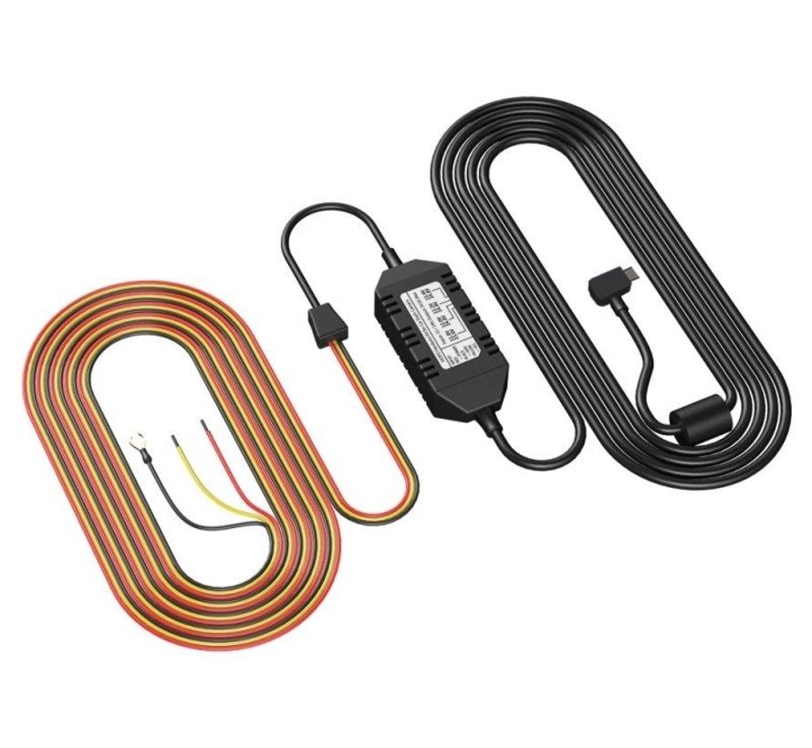 Viofo Continue voeding Mini USB 3-draads