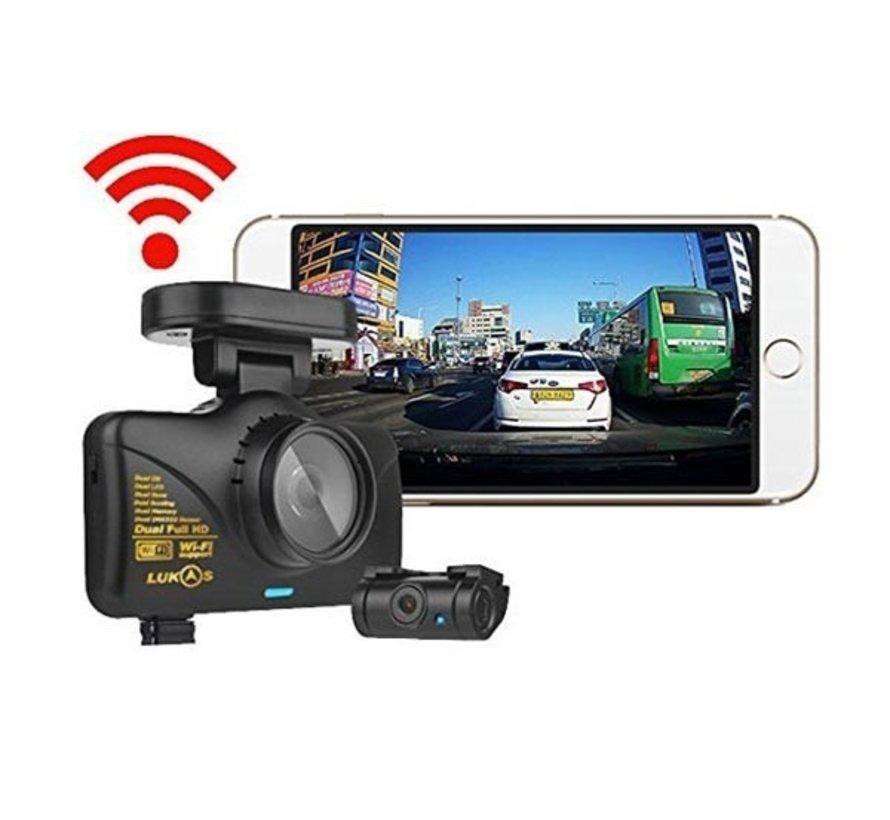 LUKAS LK-7950 WD 2CH 16gb Wifi GPS dashcam