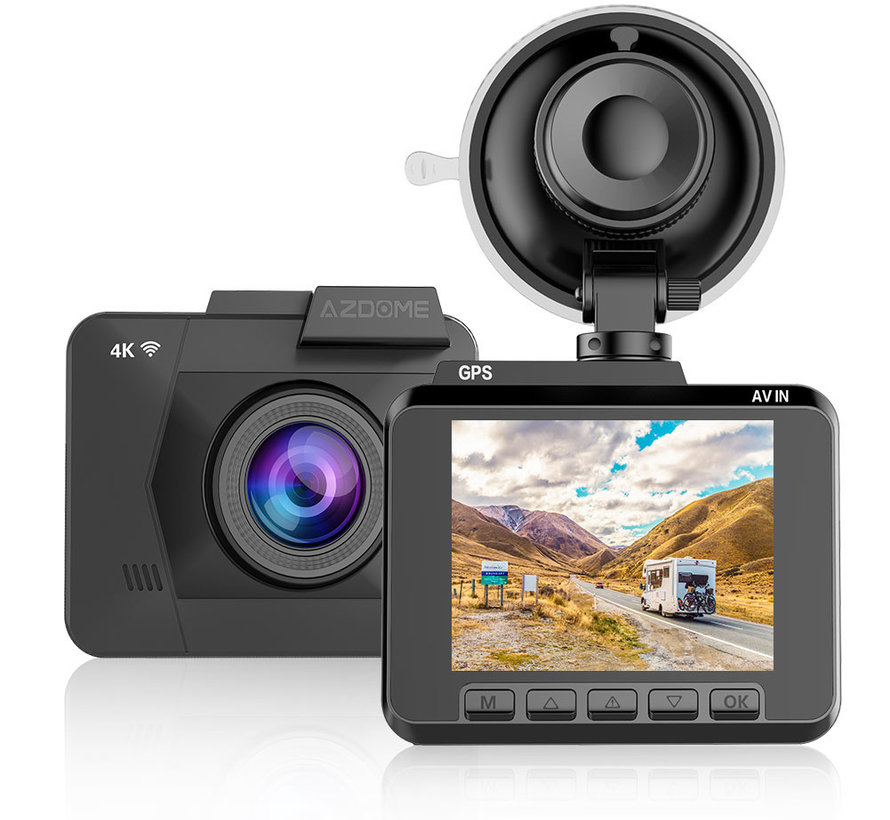 AZDome M06P True 4K Wifi GPS dashcam