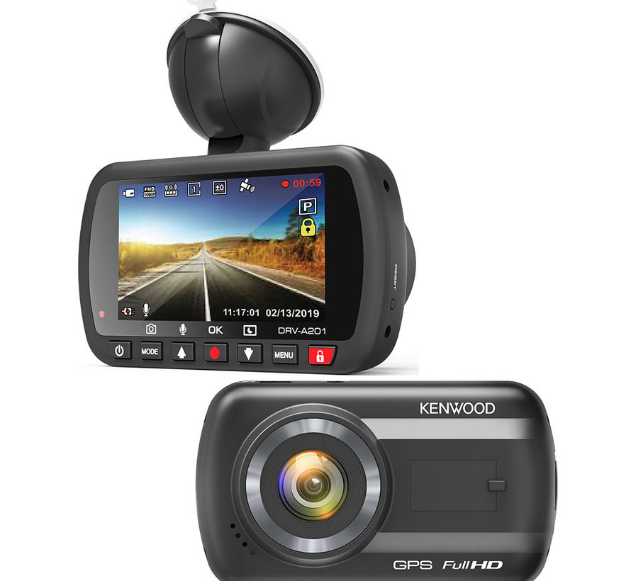 KENWOOD DRV-A201 16gb Full HD dashcam